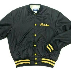 Vintage 80s 90s Holloway Purdue Baseball Jacket L